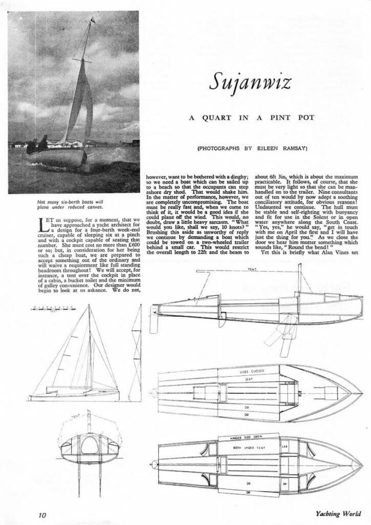 1952 YW Article about Alan Vines boat Sujanwiz