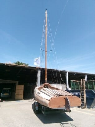 14.4 Trial mast erection to check the new rigging is correctly sized