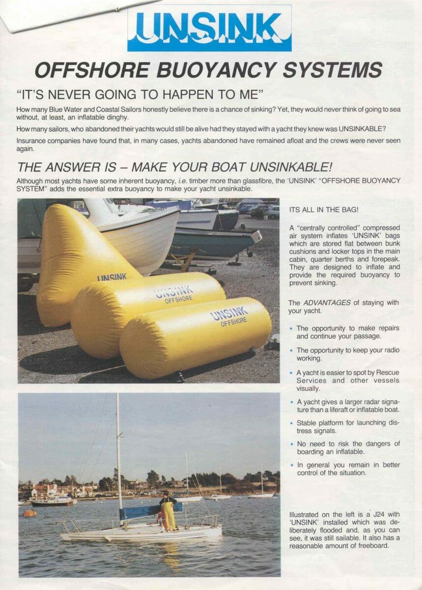 1992 Unsink Buoyancy-brochure p 1 of 4