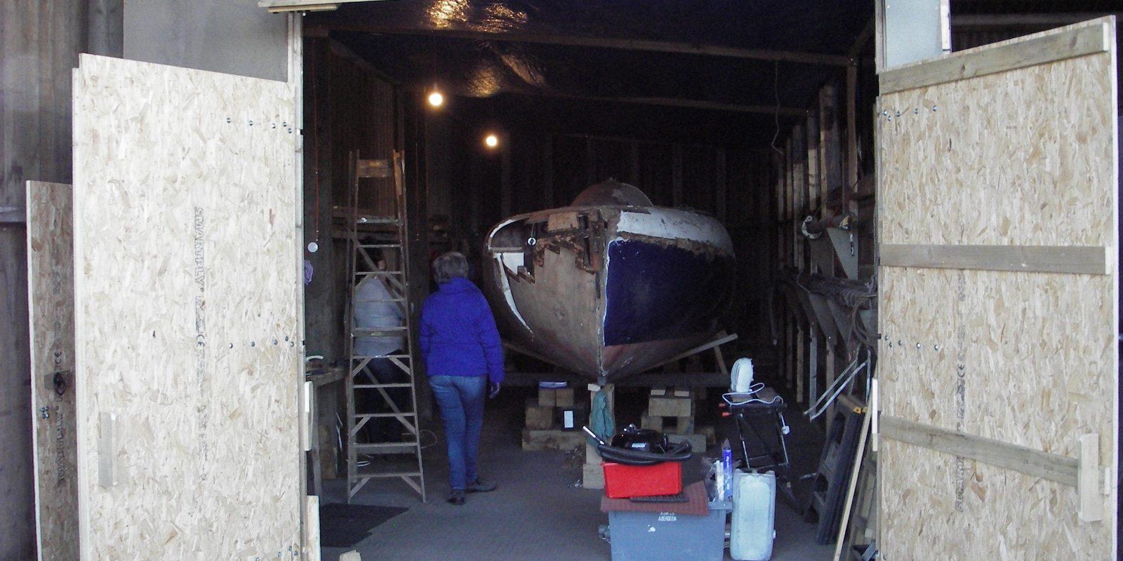 2.2 Inside the boatshed