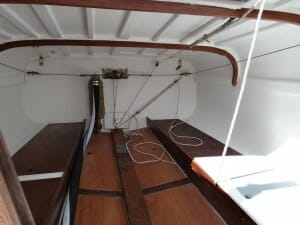 the interior stern cabin