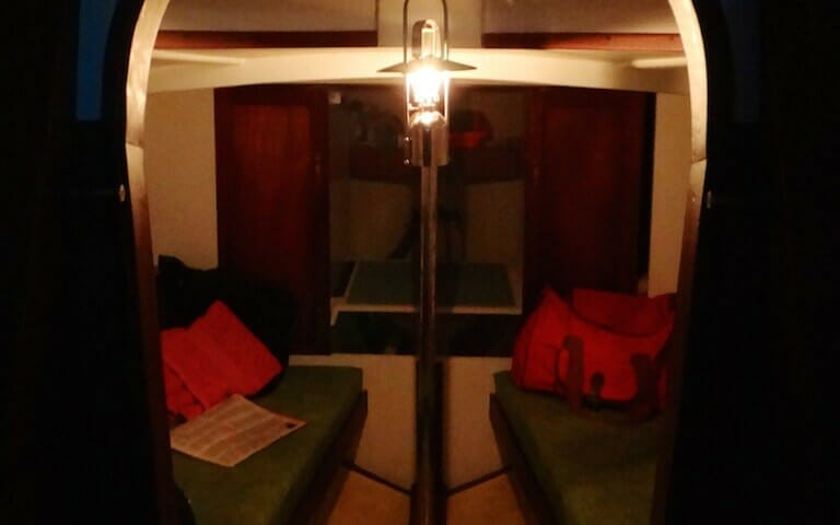 A124 Helene cabin oil lamp - saving on electricity.