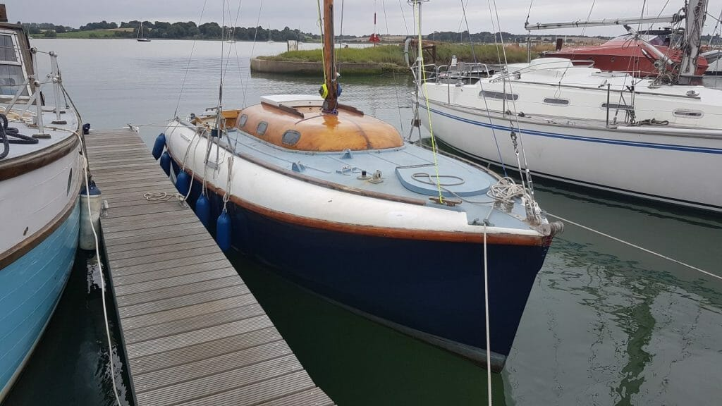 Atalanta Mary after launch at Suffolk Yacht Harbour