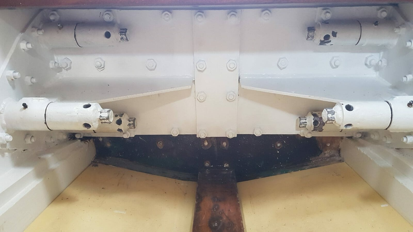 Keel steelwork is in good condition - the stuff you can't see too!