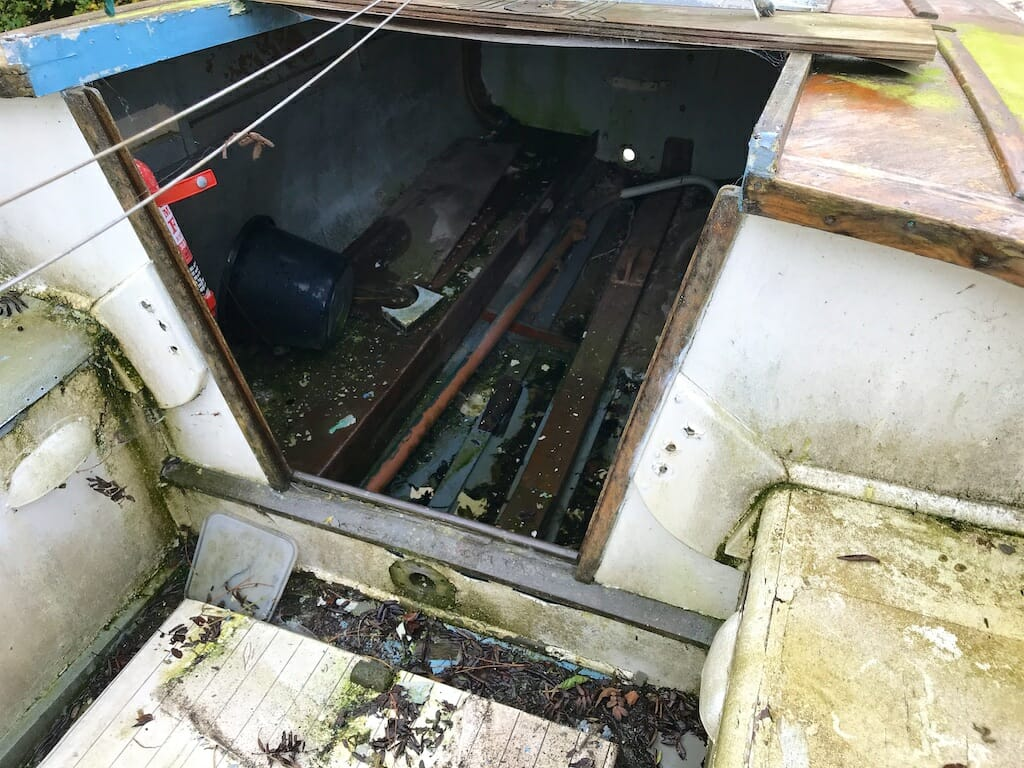 The stern cabin was relatively dry