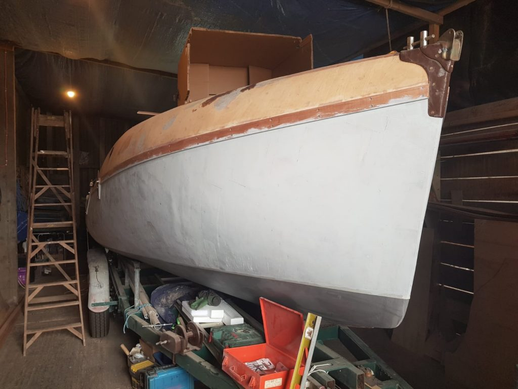 4.5 Hull painting - three coats of undercoat