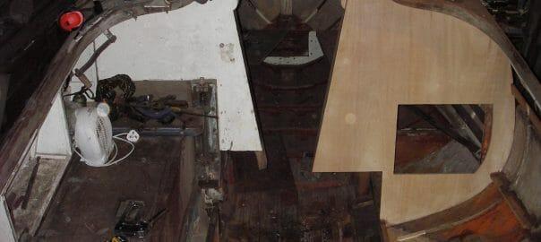 8.4 Cockpit Keelbox and Bulkhead rebuild 04
