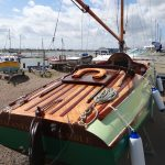 A long and varnished stern deck