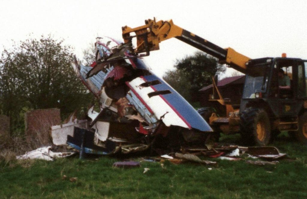 A109 Being destroyed in 2003