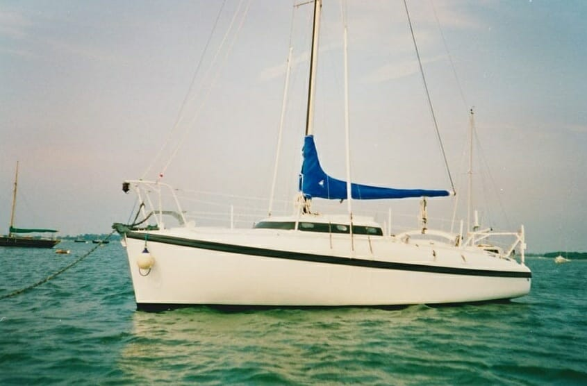A86 1990s On her moorings, Chichester harbour '90s 2