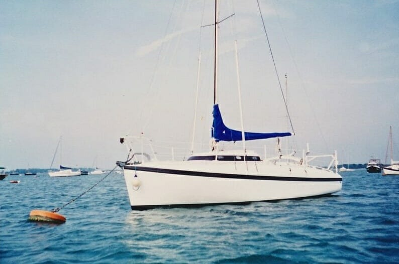 A86 1990s On her moorings, Chichester harbour '90s 3