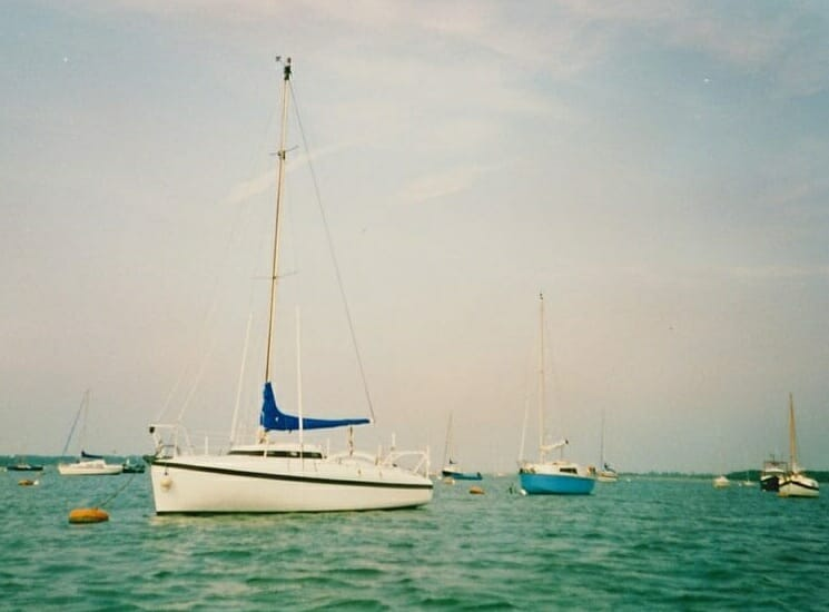 A86 1990s On her moorings, Chichester harbour '90s 4