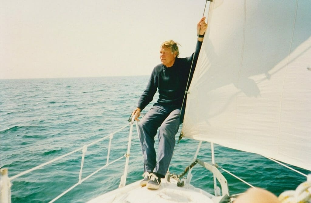 A86 1992-3 Maurice….enjoying sailing after the refit….a very happy soul!!
