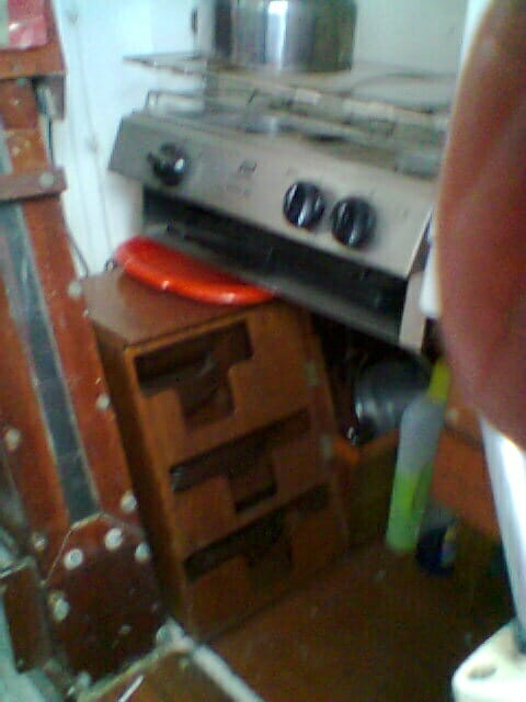 A95 2016 034 Starboard galley side incl storage
