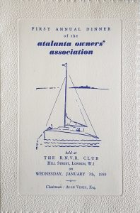 AGM Dinner Card Cover 1959