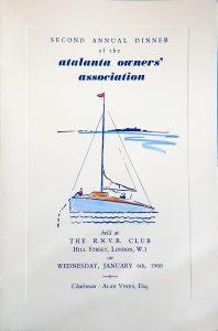 AGM Dinner Card Cover 1960