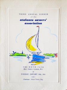 AGM Dinner Card Cover 1961