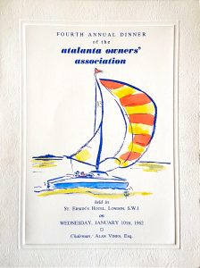 AGM Dinner Card Cover 1962