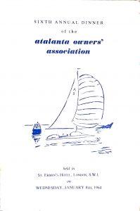 AGM Dinner Card Cover 1964
