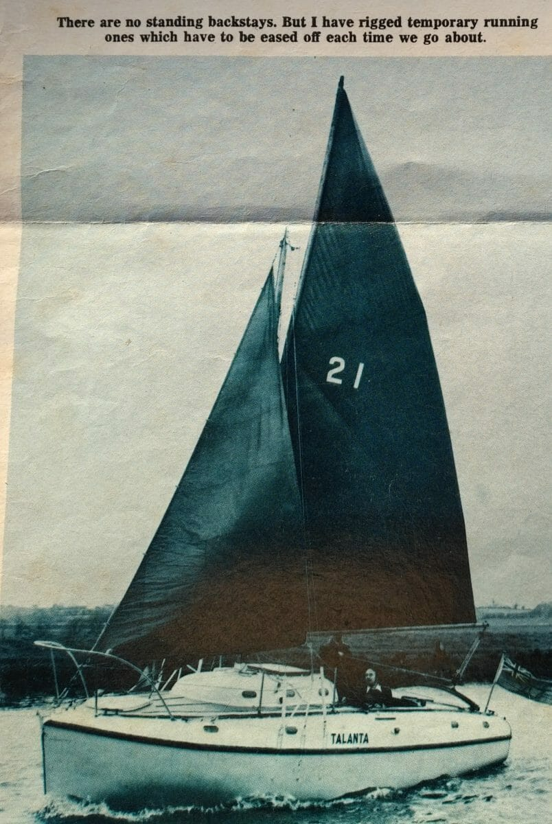 A80 Sails extensively with Gunter Rig