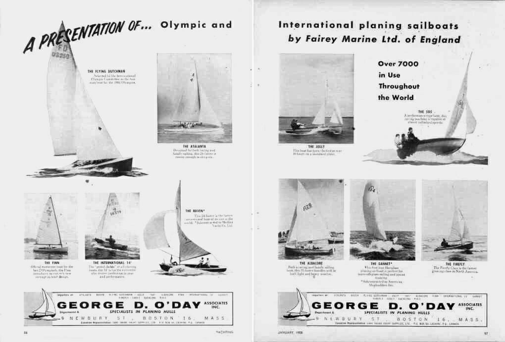 US 1958 Atalanta 26 and Dinghies ODay