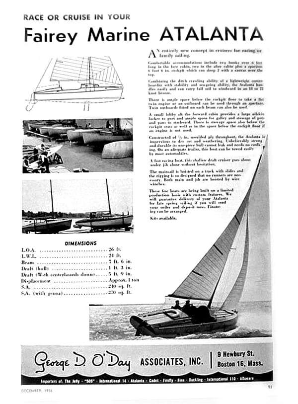 US 1958 Atalanta ODay Advert