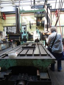 A large metal planer