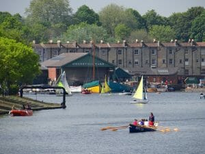 The Underfall yard at the Western end of Bristol's Floating Harbour