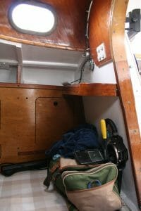 the interior main cabin shelves