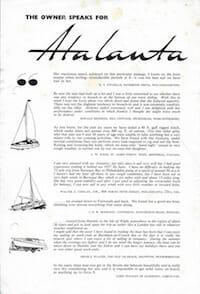 Atalanta 26 1960 Owners Testimonials
