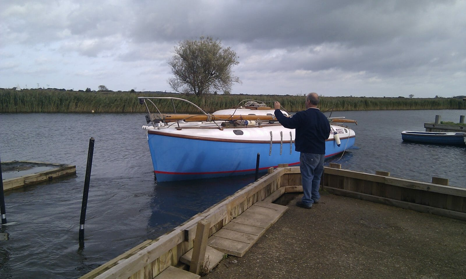 Finally... launched on the River Bure at Martham