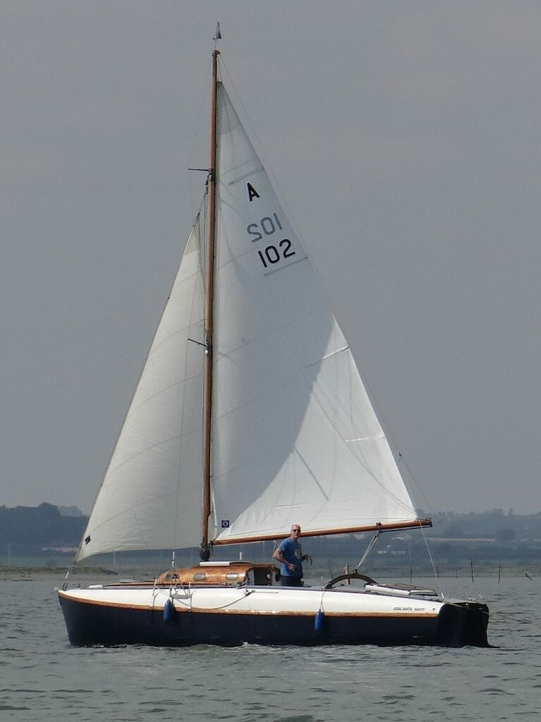 A102 Looking good on the Blackwater 2017 after West Mersea race