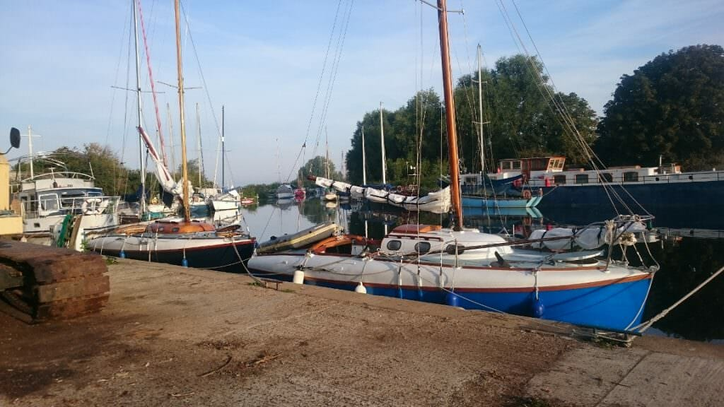 A102 and A124 at Heybridge Basin after W.Mersea 2017
