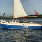 2017 Leaving the Orwell for West mersea