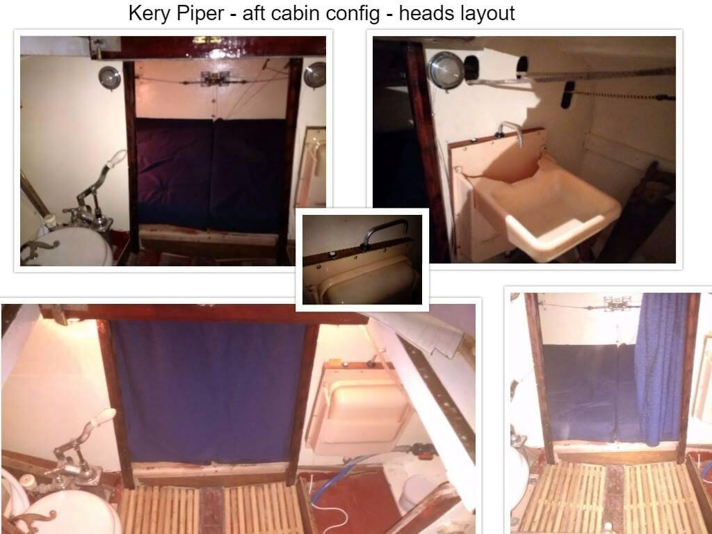 Kerry Piper Aft cabin refurb - heads