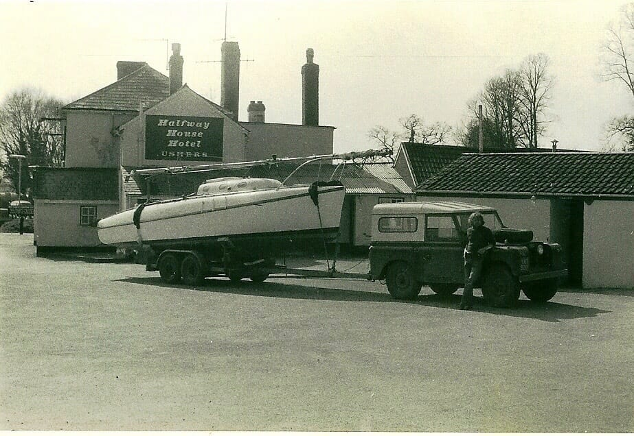 1 - Mike Challis towing Emma Duck when purchased in 1972