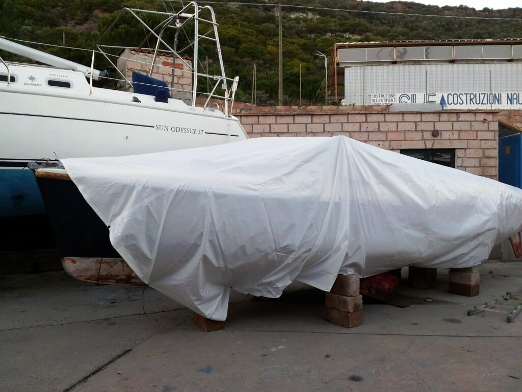 vela coperta, Nautica Pinna, Bosa Sardinia.