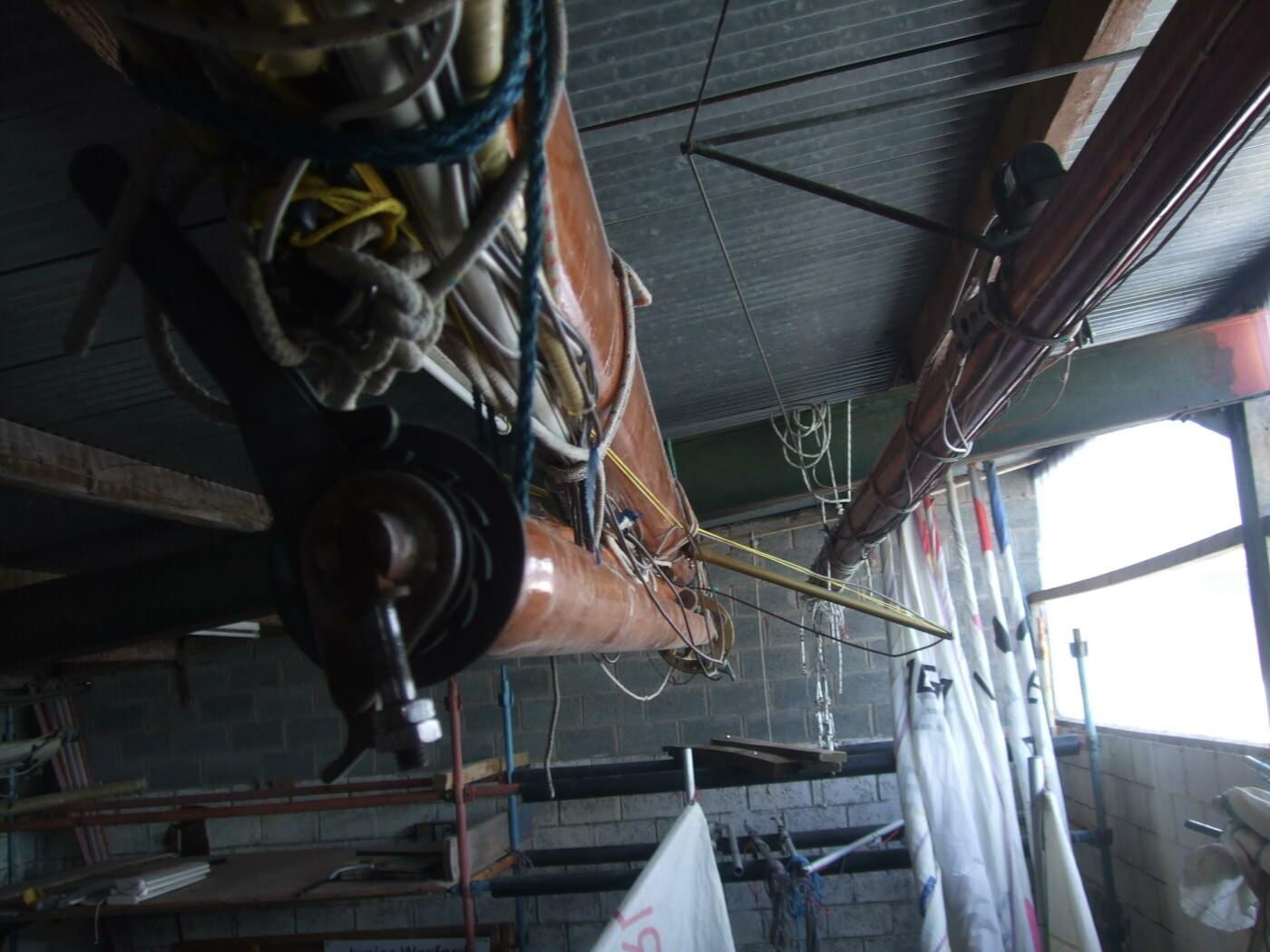 Mast, spinnaker pole & boom