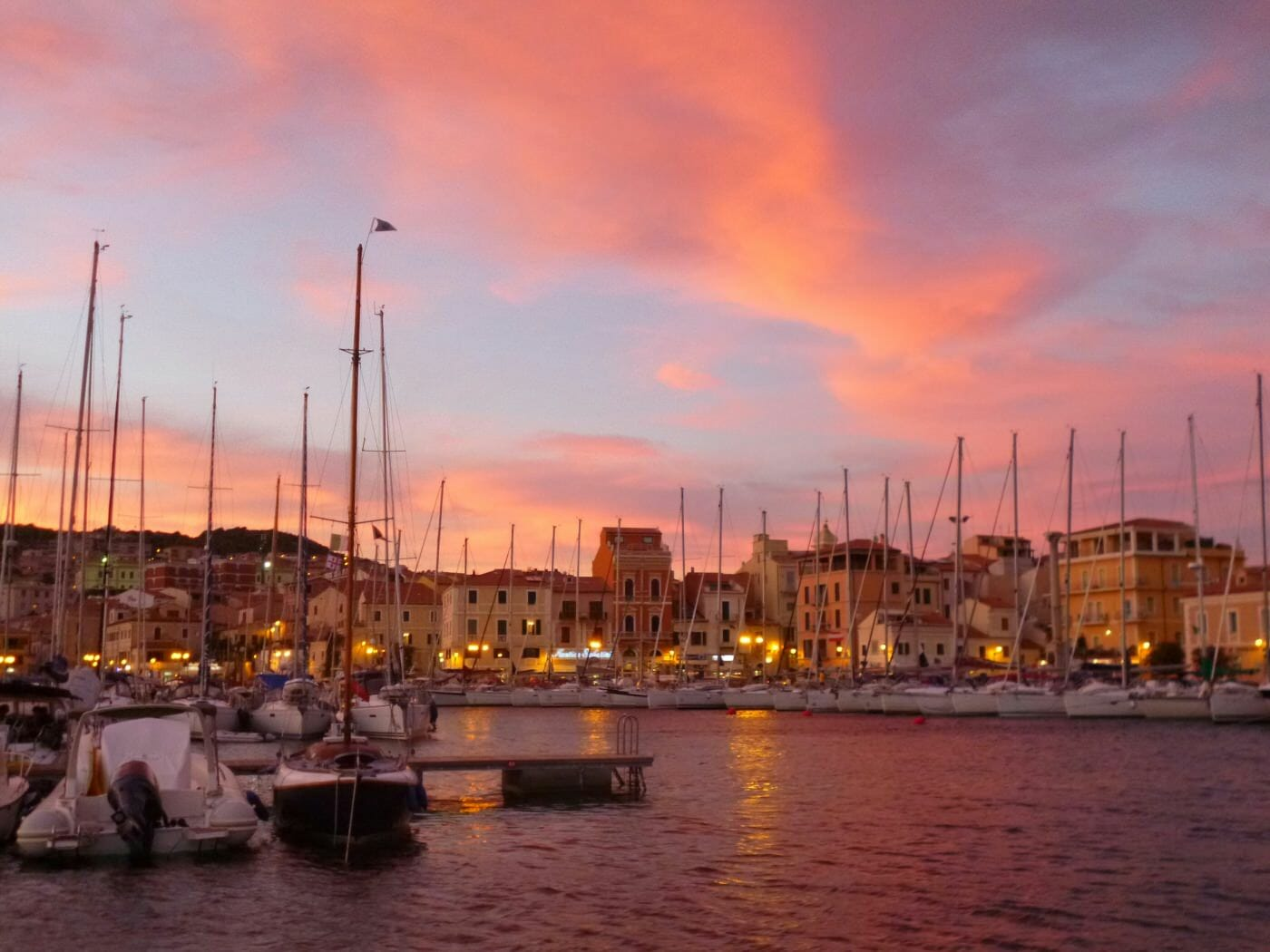 Sunset in Maddalena
