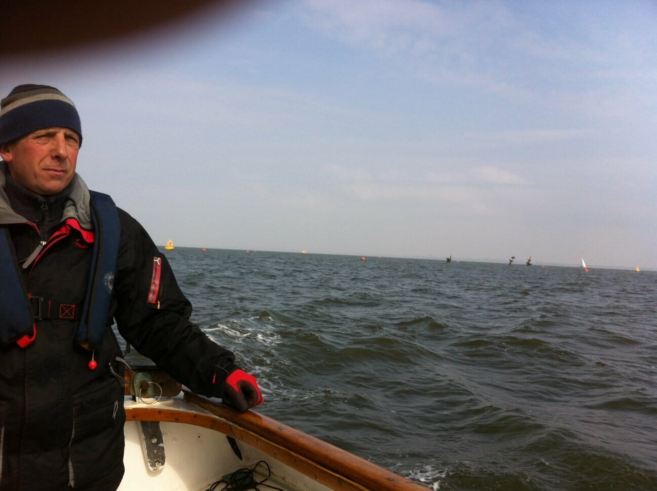 Heading back across the estuary