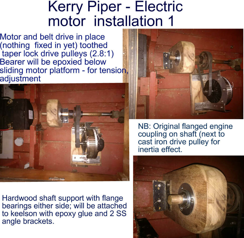 Electric motor installation 1