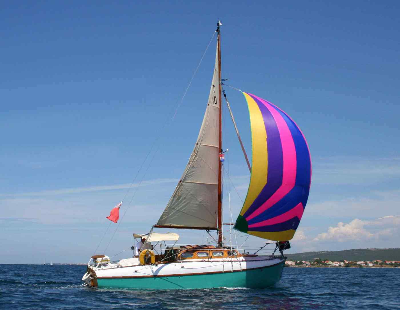 2013 T10 Callista under spinnaker in Croatia
