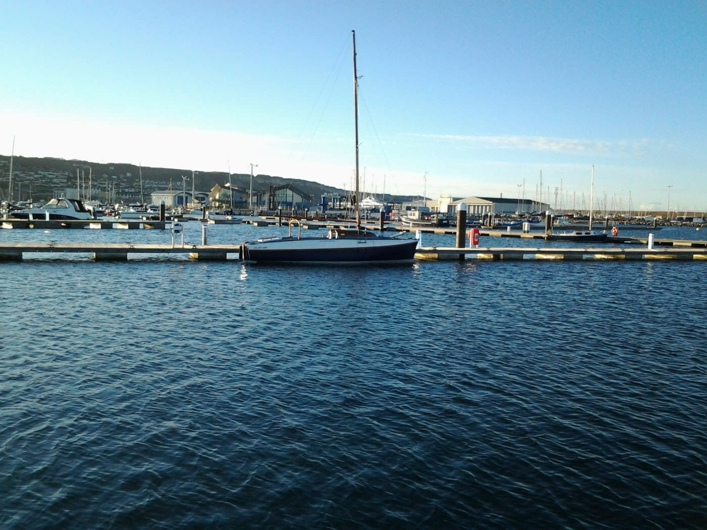 Portland marina.