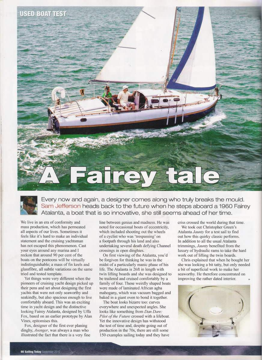 2012 Sailing Today Article - Jaunty A100