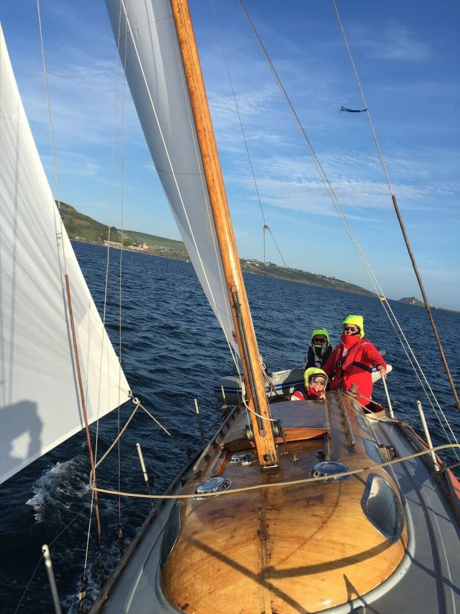 6 knots to Salcombe