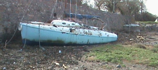 Such a shame, but she was in a very poor state.  A lot of gear and parts were salvaged but she was burnt on the beach in 2009