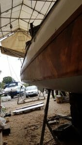The hull is a slightly different shape to the later boats aft.