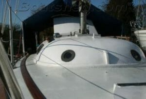 2010 For Sale - foredeck and blister. Additional portholes and very clean foredeck