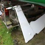 2009 Complete rudder assembly removed