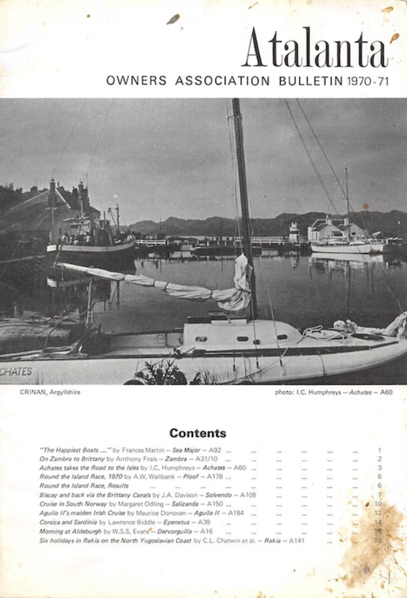 AOA Bulletin 1970-71 cover